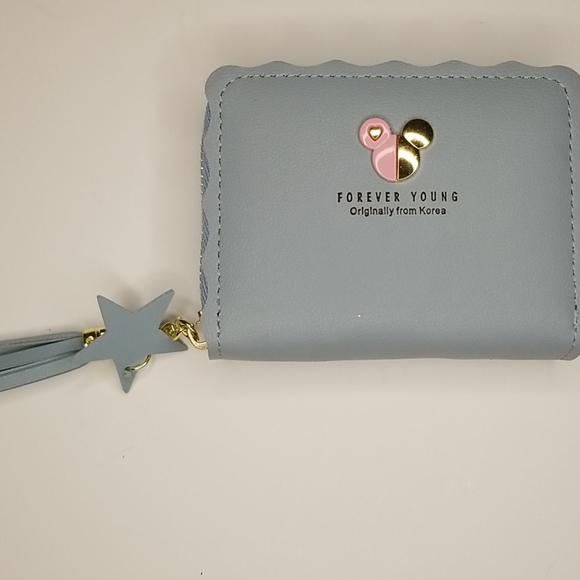 Forever Young Mickey Mouse Blue Wallet